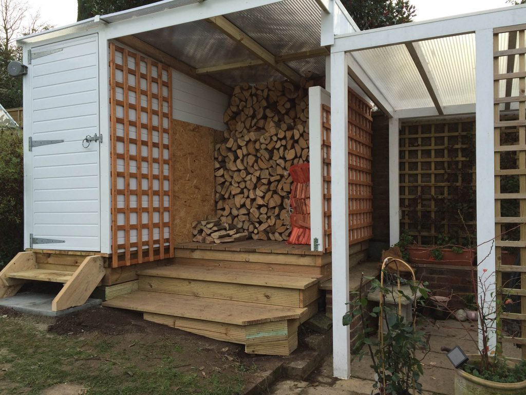 Log store and garden shed